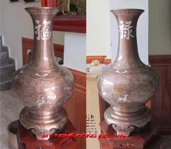 Đôi lọ hoa Phúc Lộc khảm ngũ sắc Doi-lo-hoa-bang-dong-kham-ngu-sac